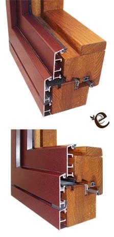 Serramenti in legno alluminio spessore 96 millimetri