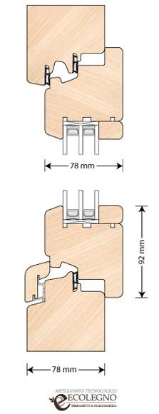 Serramenti in legno spessore 78 millimetri