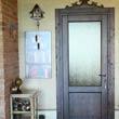 realizzazione porta interna in legno effetto antico