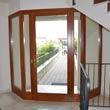 portoncino in legno su misura per condominio