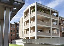 serramenti in legno alluminio per complesso residenziale