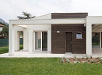 serramenti e rivestimento facciata in legno