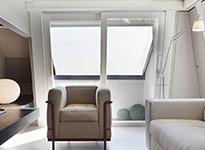 vetrata su misura in legno